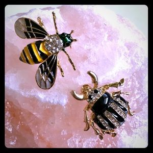 Insect bug pins Bee and Beetle, new 2 as shown